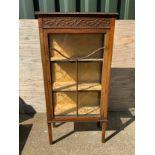 Oak Glazed Cabinet with Key