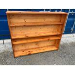 Pine Bookshelves - 139cm W x 117cm H
