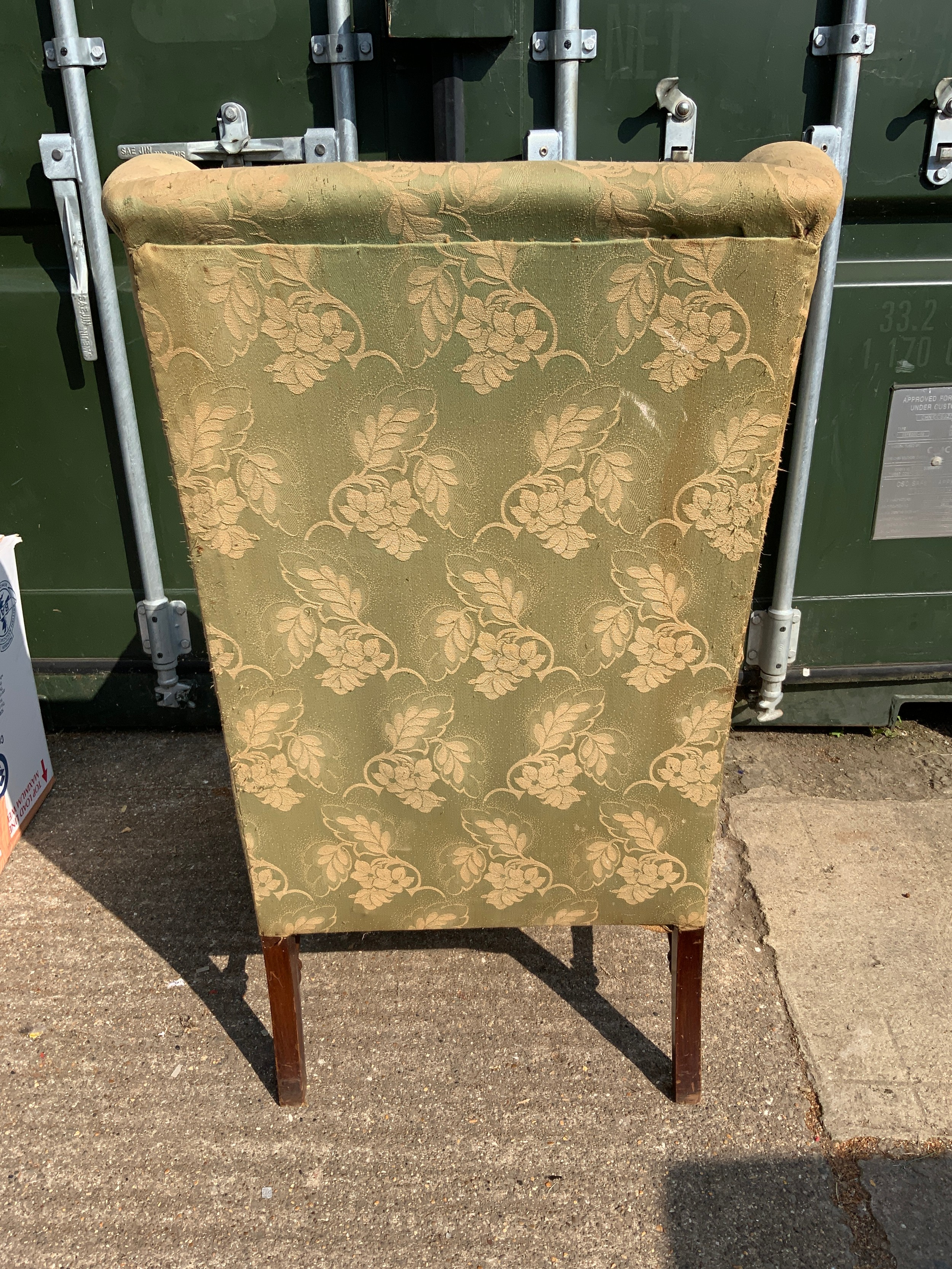 Edwardian High Back Armchair - Image 3 of 3