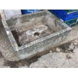 Brick Form Concrete Trough - 66cm x 51cm x 21cm