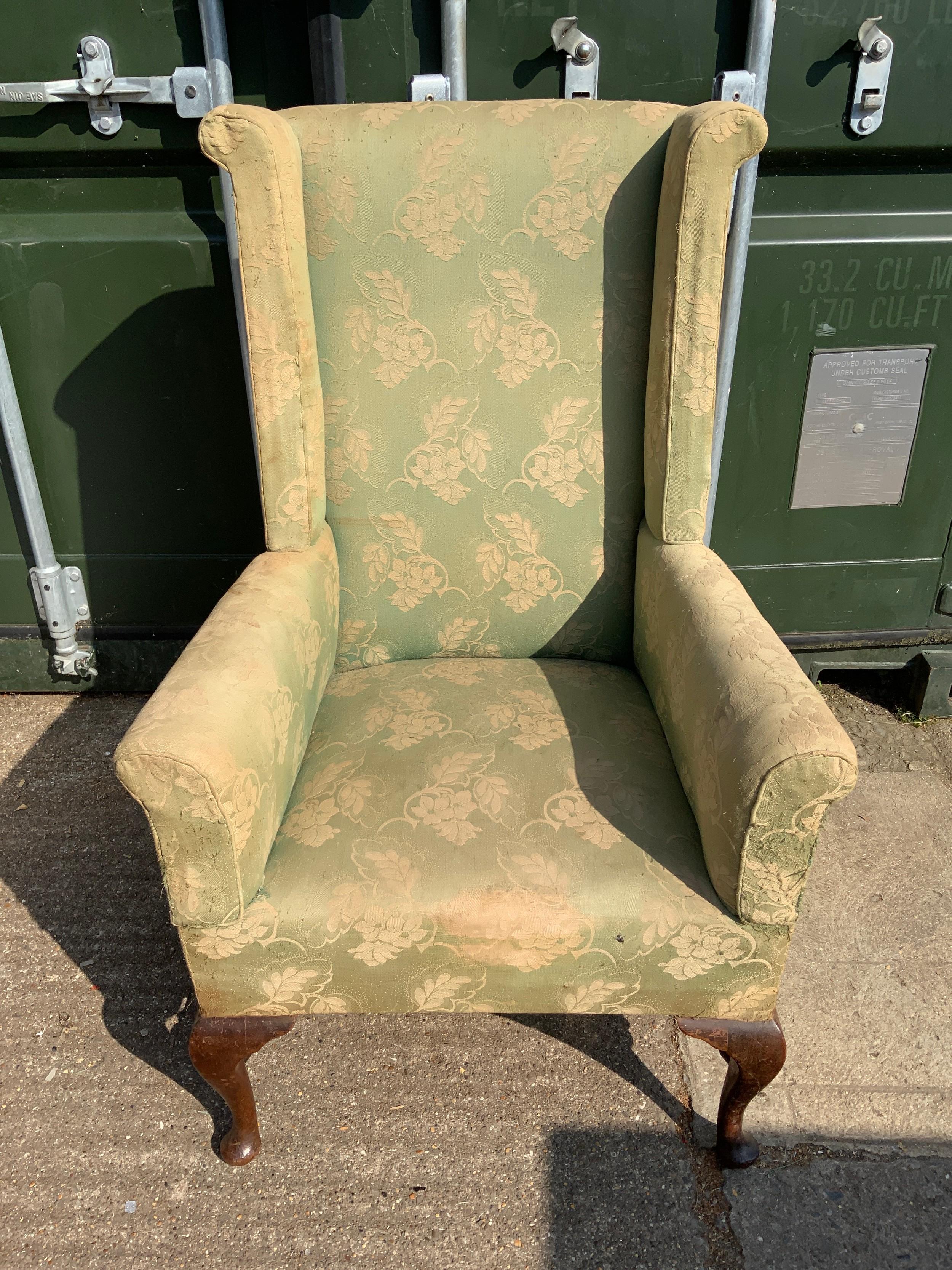 Edwardian High Back Armchair