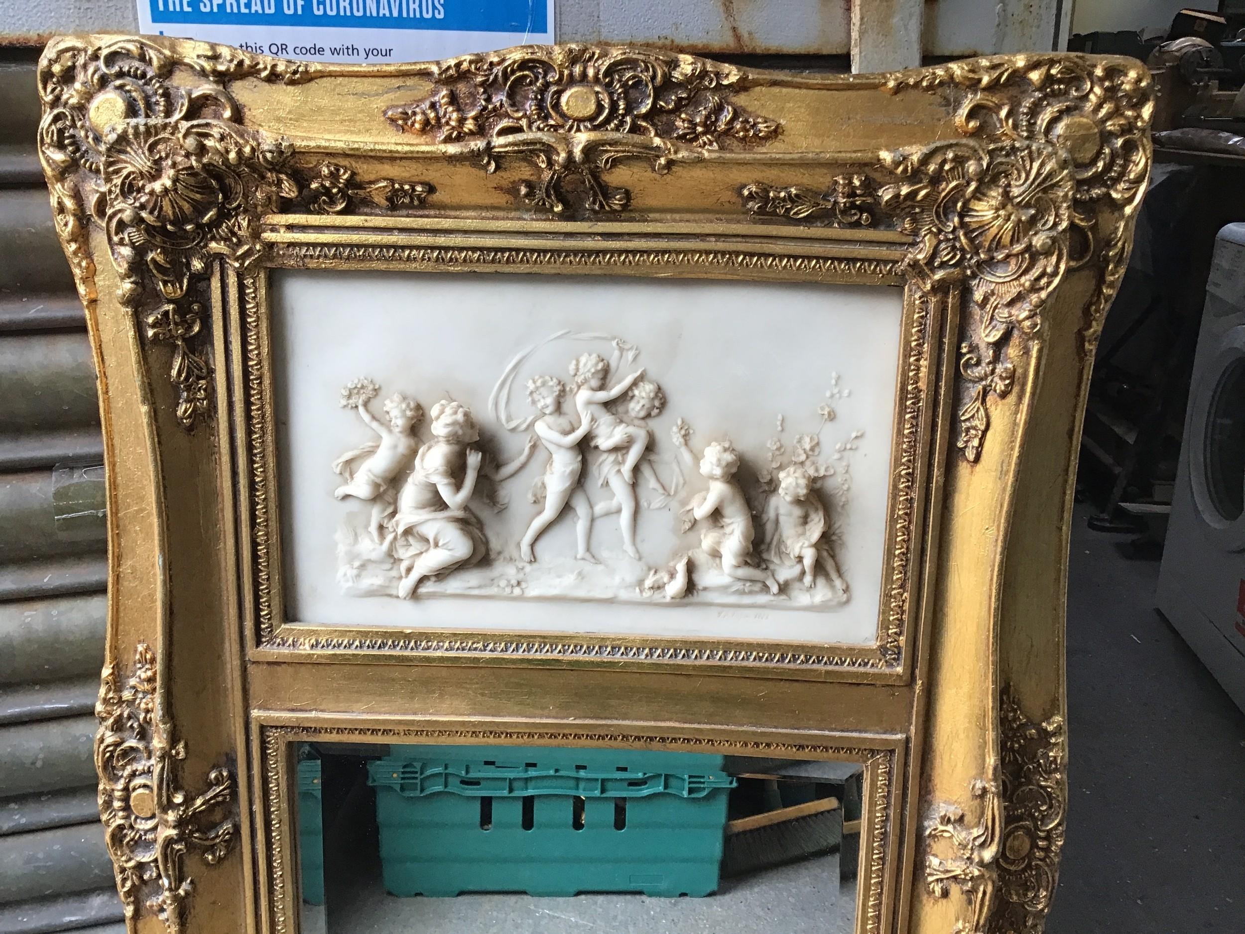 Vintage Gilt Ornately Framed Mirror - 52cm W x 108cm H - Image 2 of 2