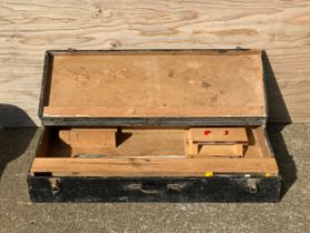 Wooden Tool Box with Saw
