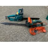 WITHDRAWN - Electric Chainsaw and Hedge Trimmer