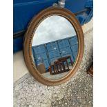 Oval Gilt Framed Mirror