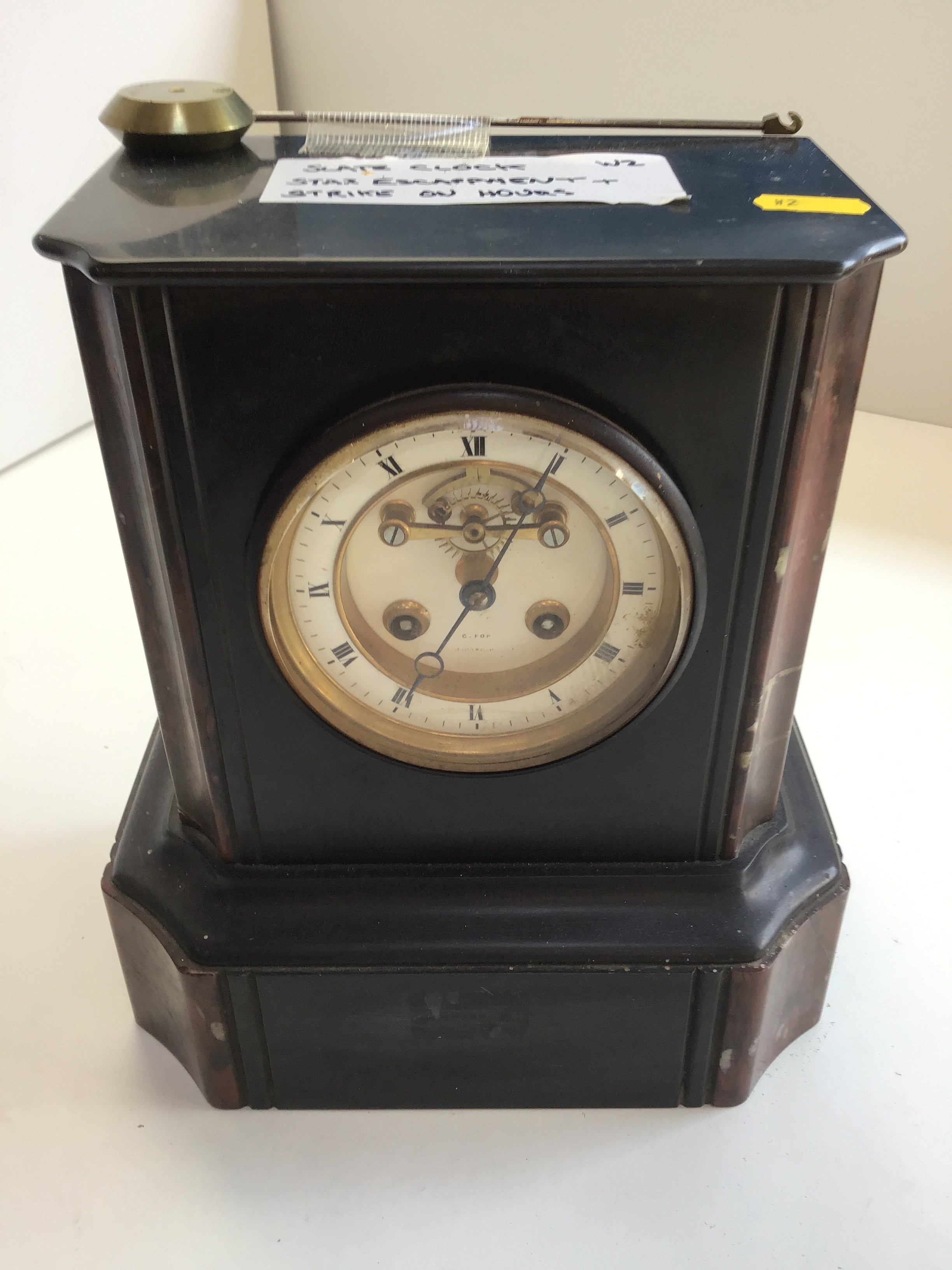 Slate Clock - Star Escapement - Strikes on the Hour