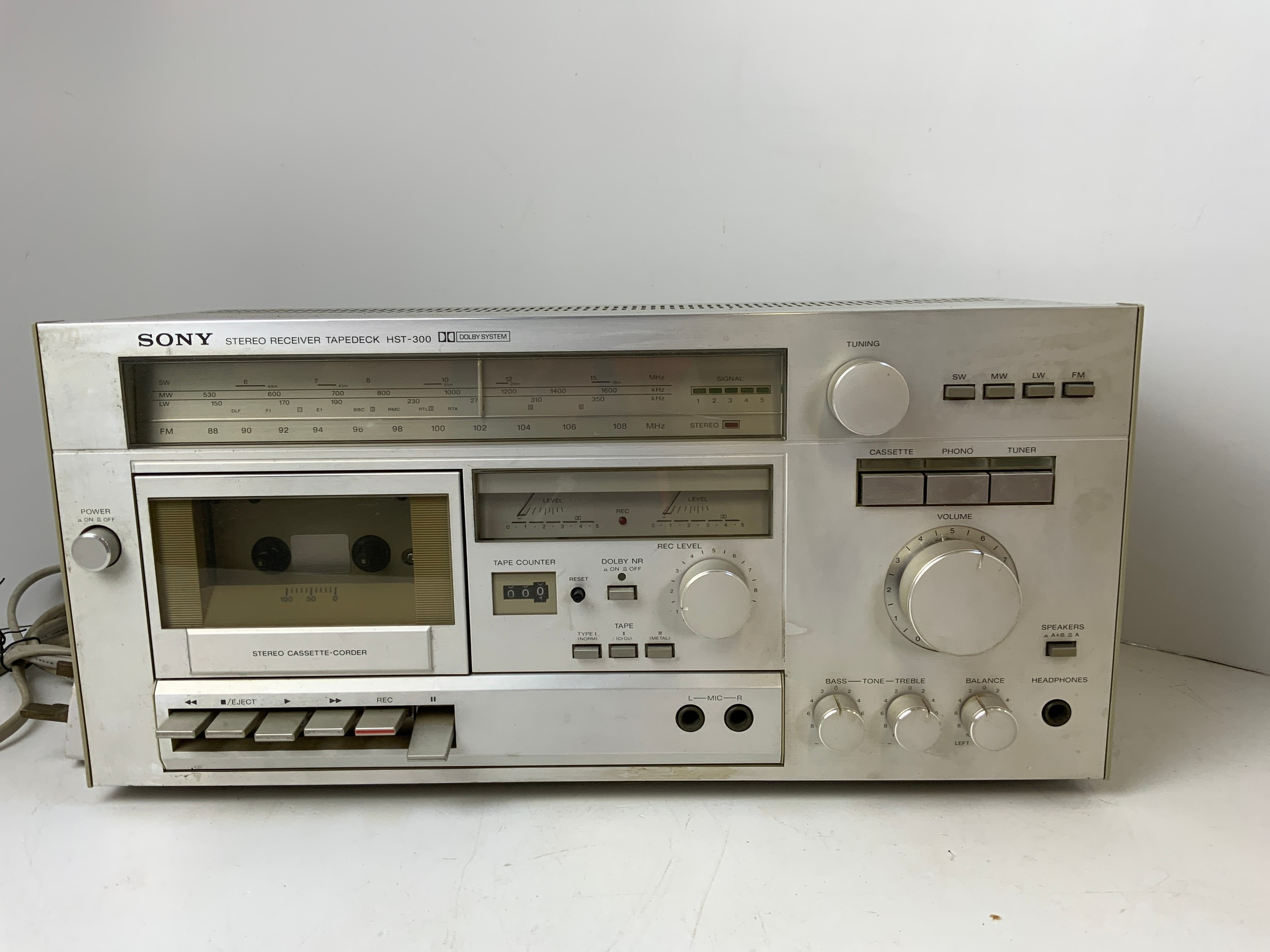 Sony Stereo Receiver Tapedeck