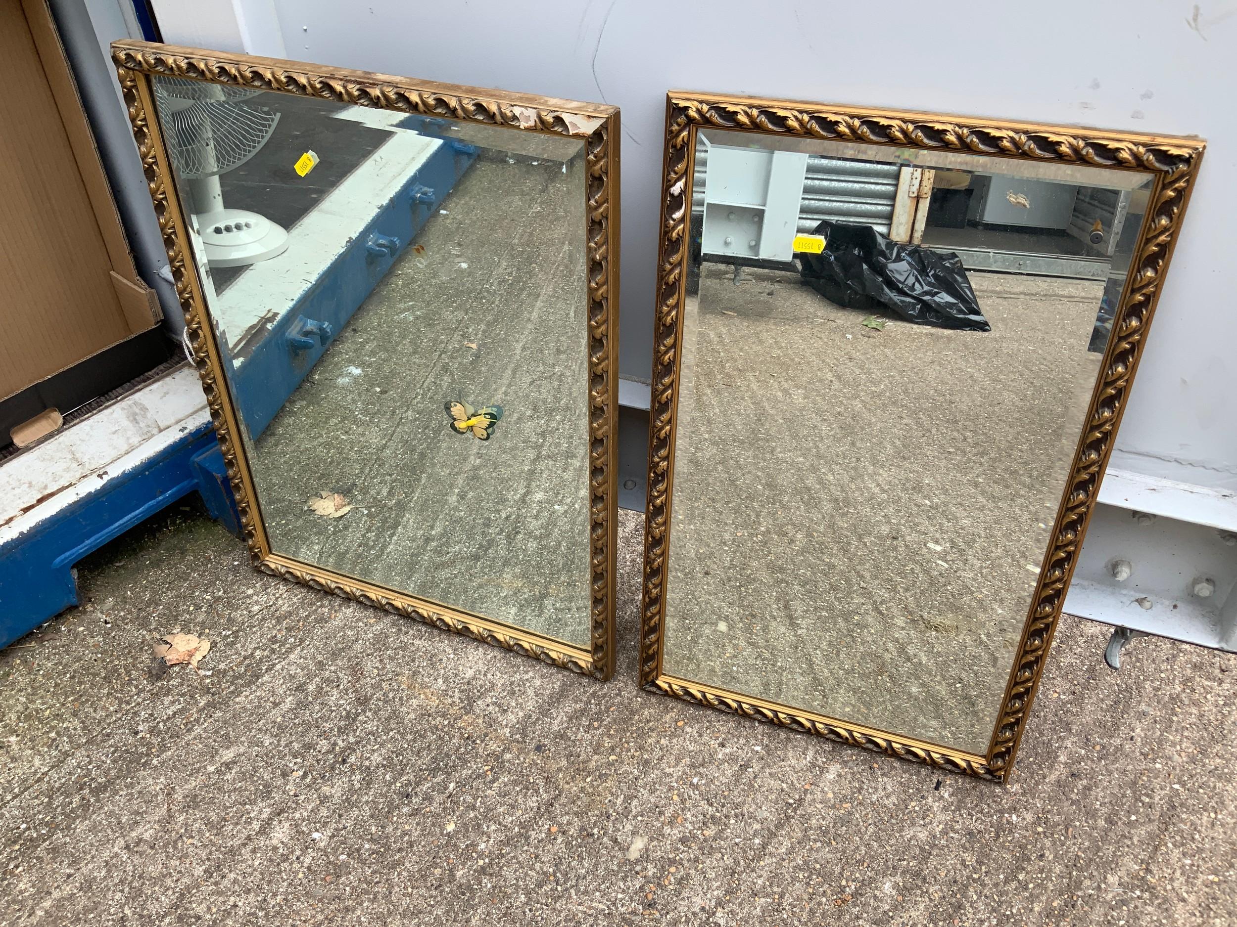 2x Gilt Framed Mirrors