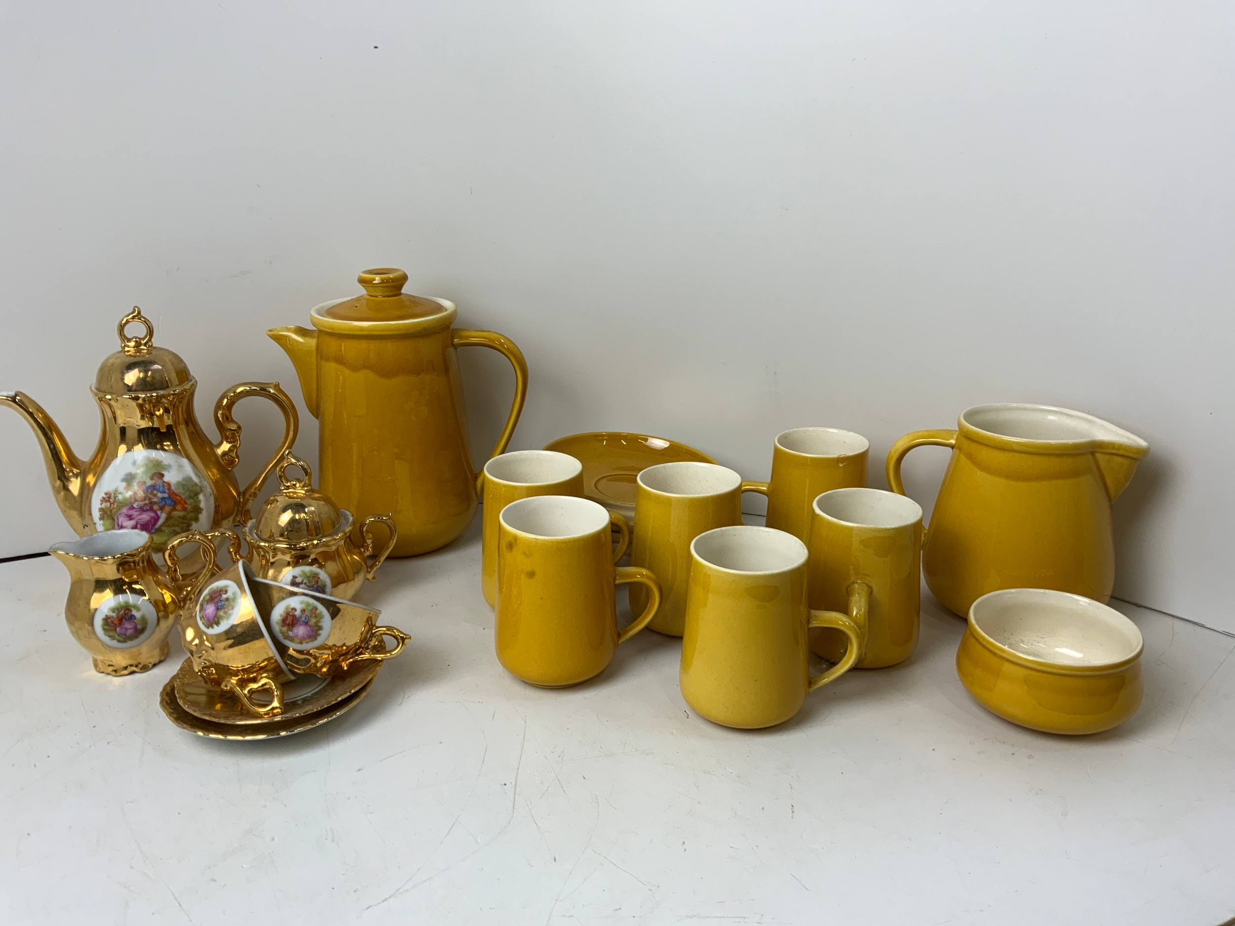 Coffee Set and Bondware Tea Set