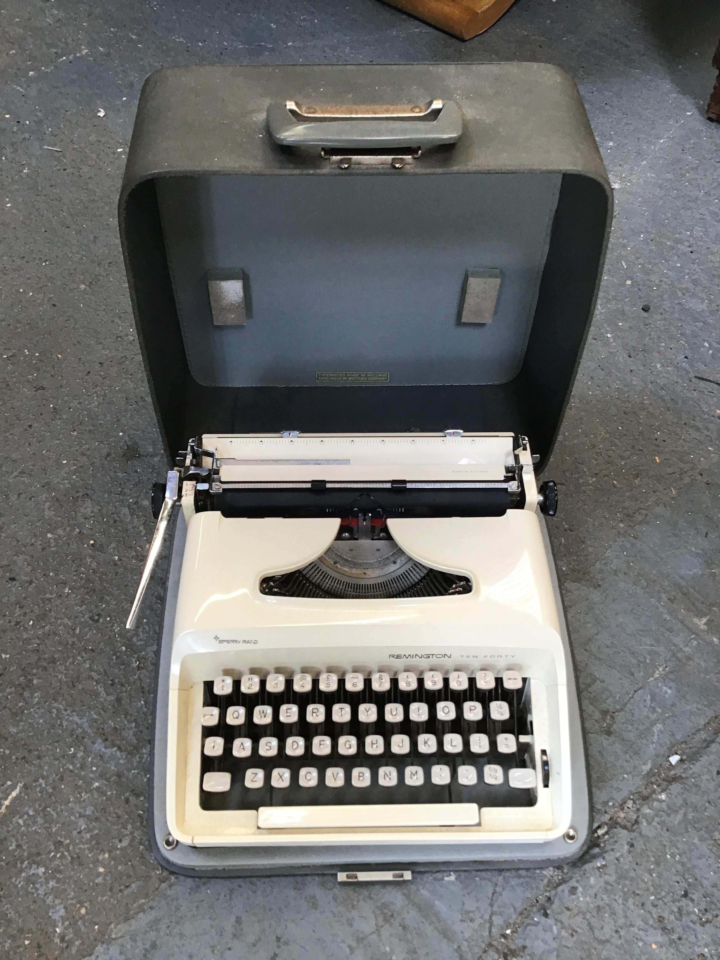 Remington Ten Forty Cased Typewriter