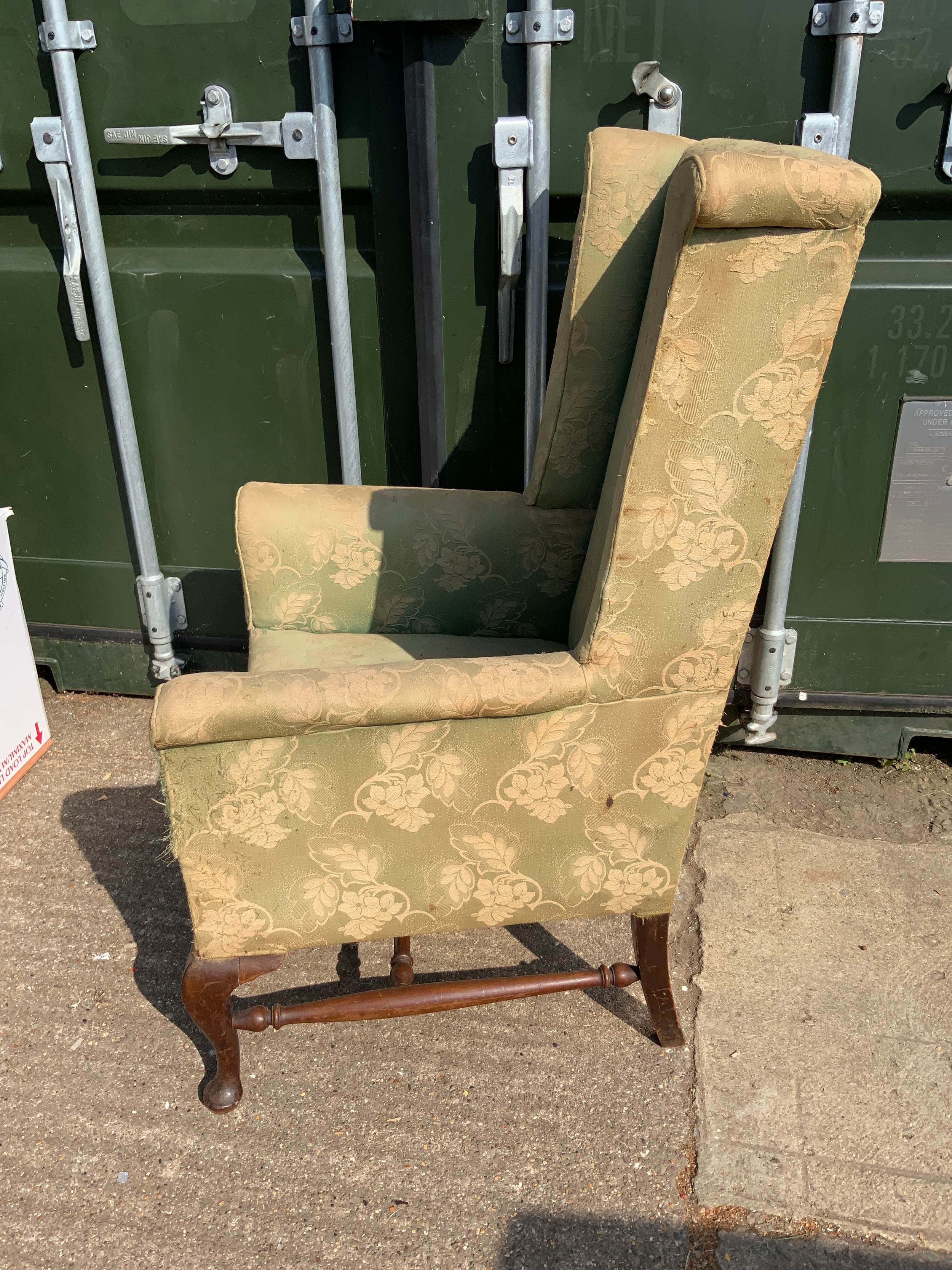 Edwardian High Back Armchair - Image 2 of 3