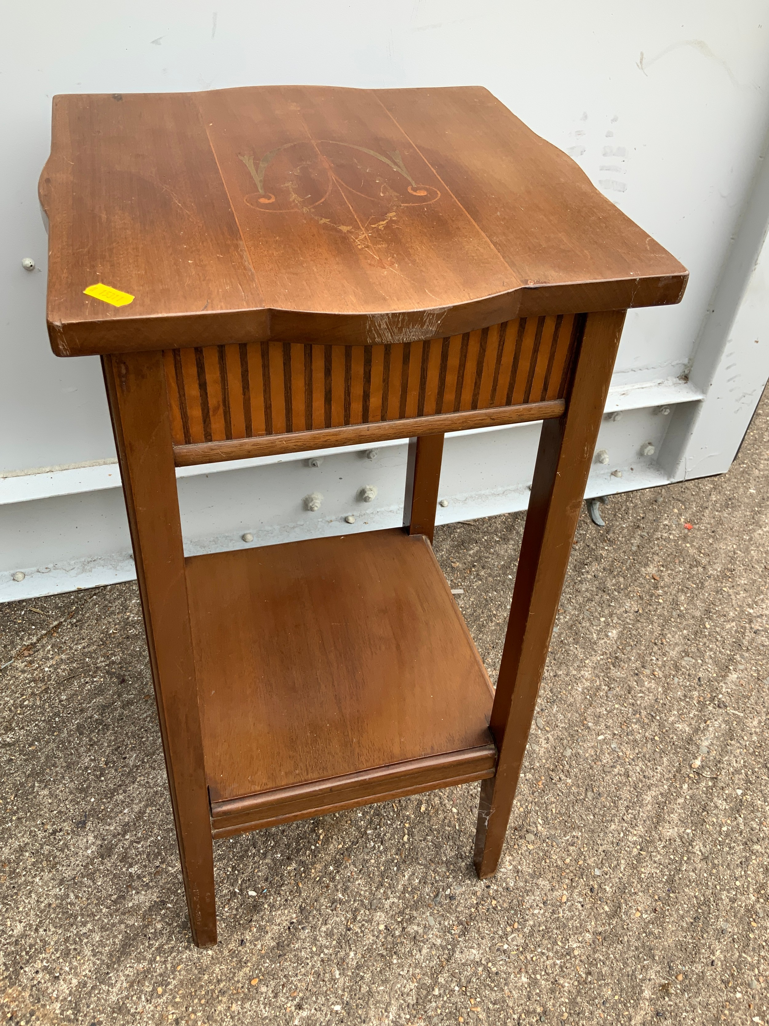 Inlaid Plant Stand