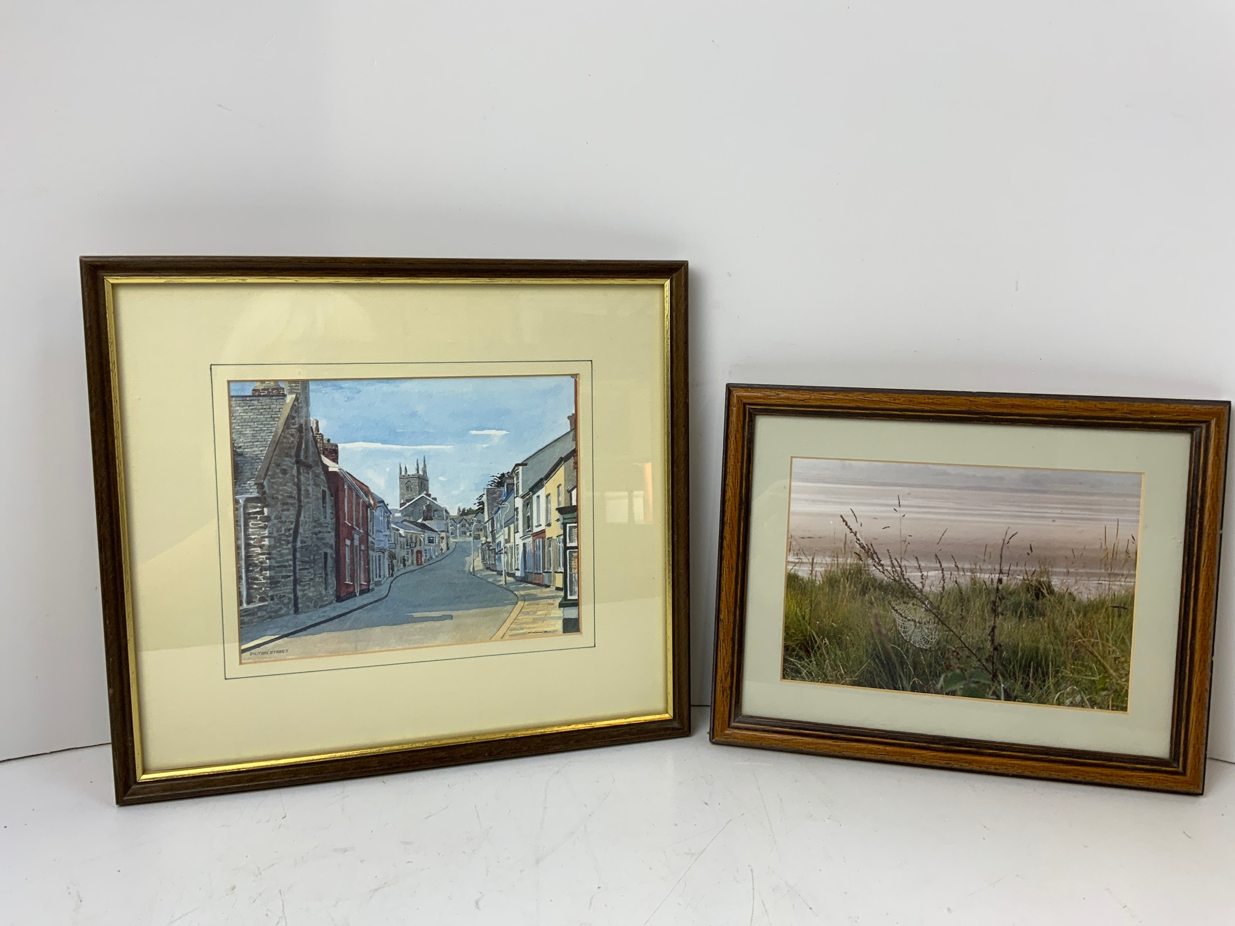 Framed Pictures - Pilton Street and Seashore
