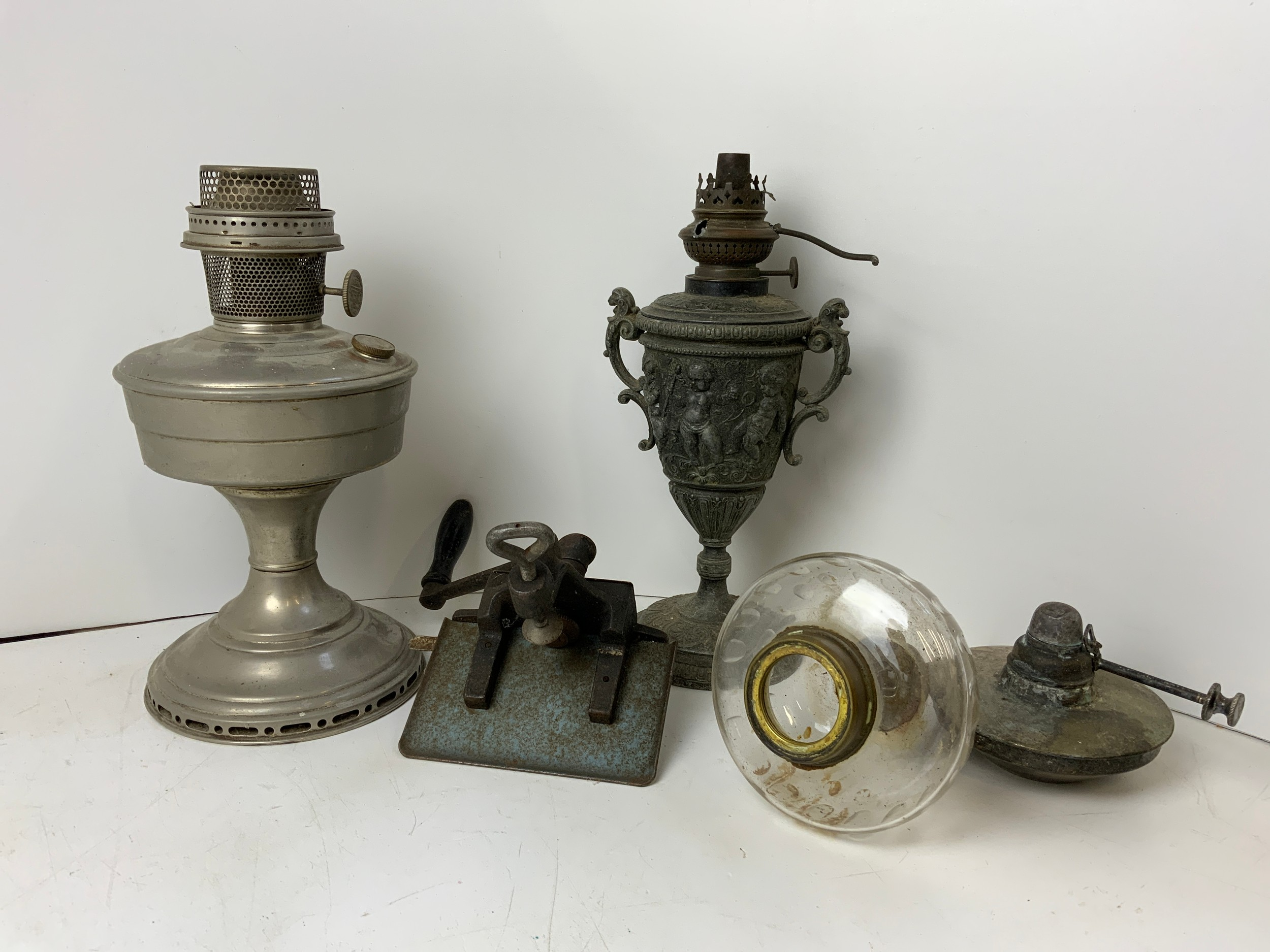 Leather/Card Crimper and Oil Lamp Parts