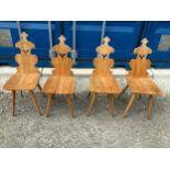 4x Pine Chairs