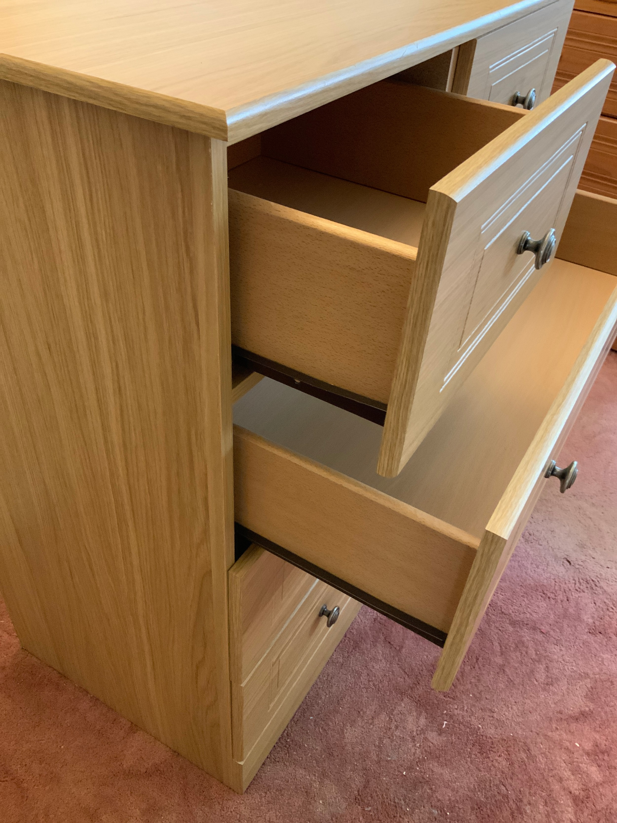 Chest of Two over Three Drawers - 83cm W x 45cm D x 94cm H - Image 2 of 2