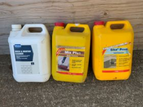 3x Tubs - Brick and Mortar Cleaner, Mix Plus and Liquid Waterproofer