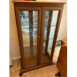 Glazed Display Cabinet - 65cm W x 33cm D x 117cm H