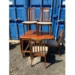 G Plan Table and 4x Chairs