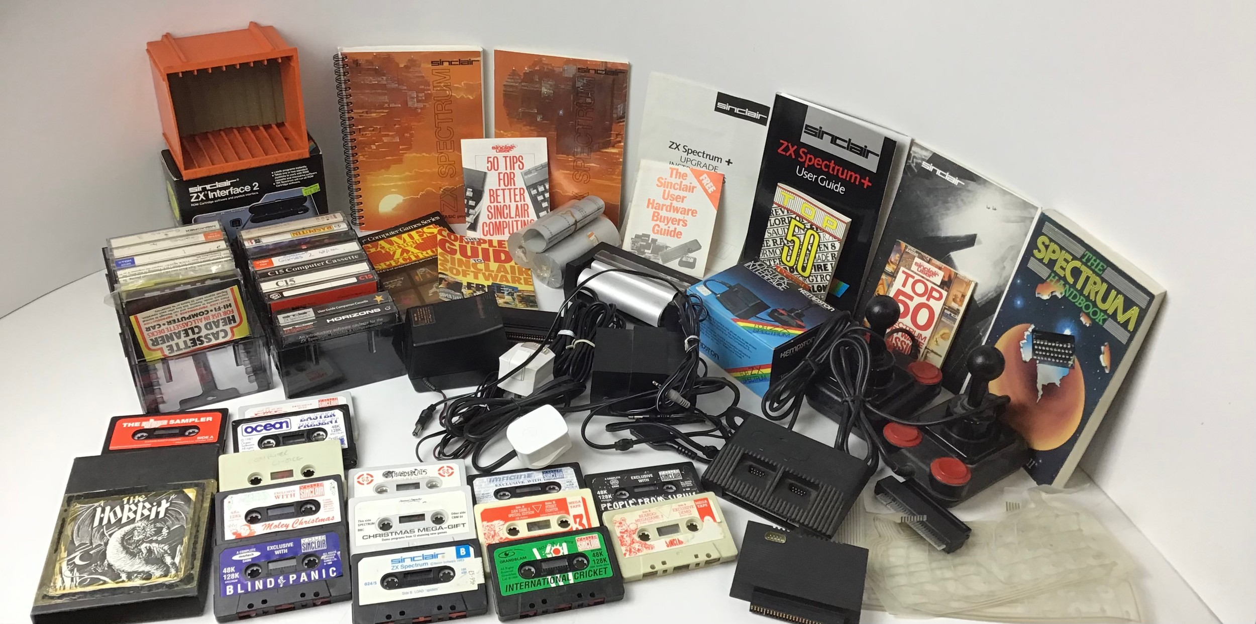 Collection of ZX Spectrum Accessories - Games, Printer, Joysticks and User Manuals etc