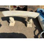 Concrete Garden Bench on Squirrel Supports