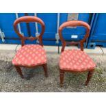Pair of Victorian Mahogany Balloon Back Chairs