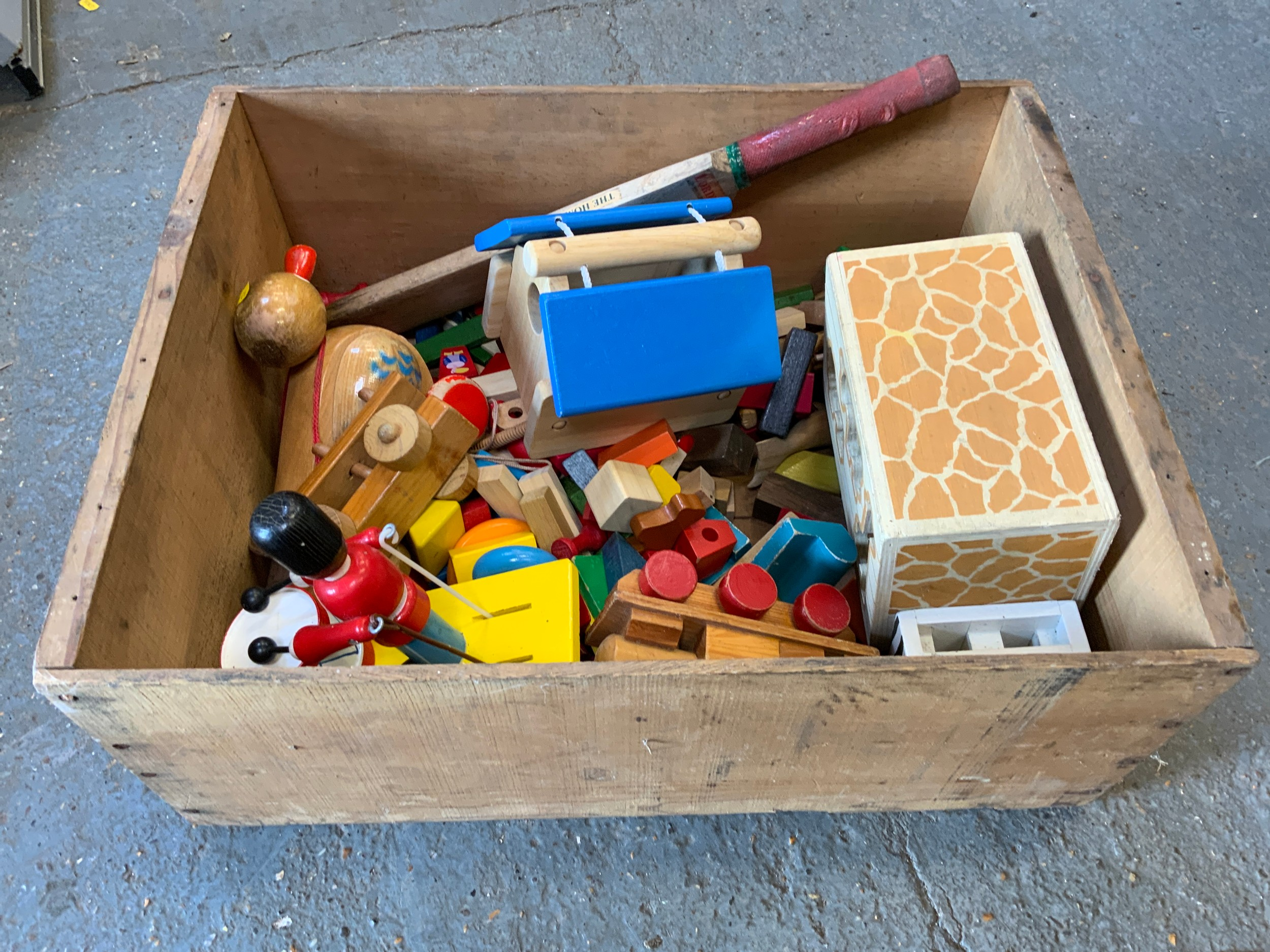 Wooden Box and Contents - Wooden Toys