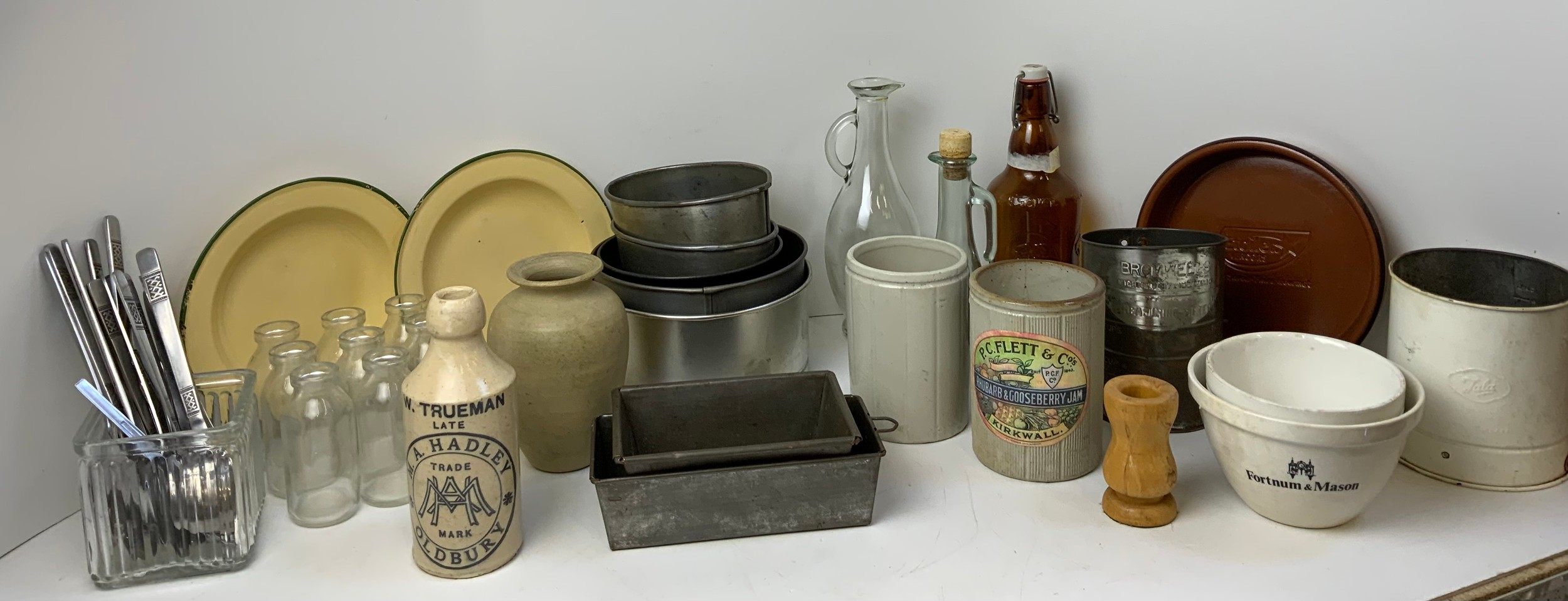 Vintage Cook Ware, Tala Sifter and Enamel Plates etc