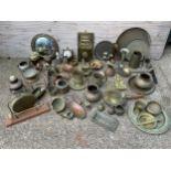 Large Quantity of Brassware