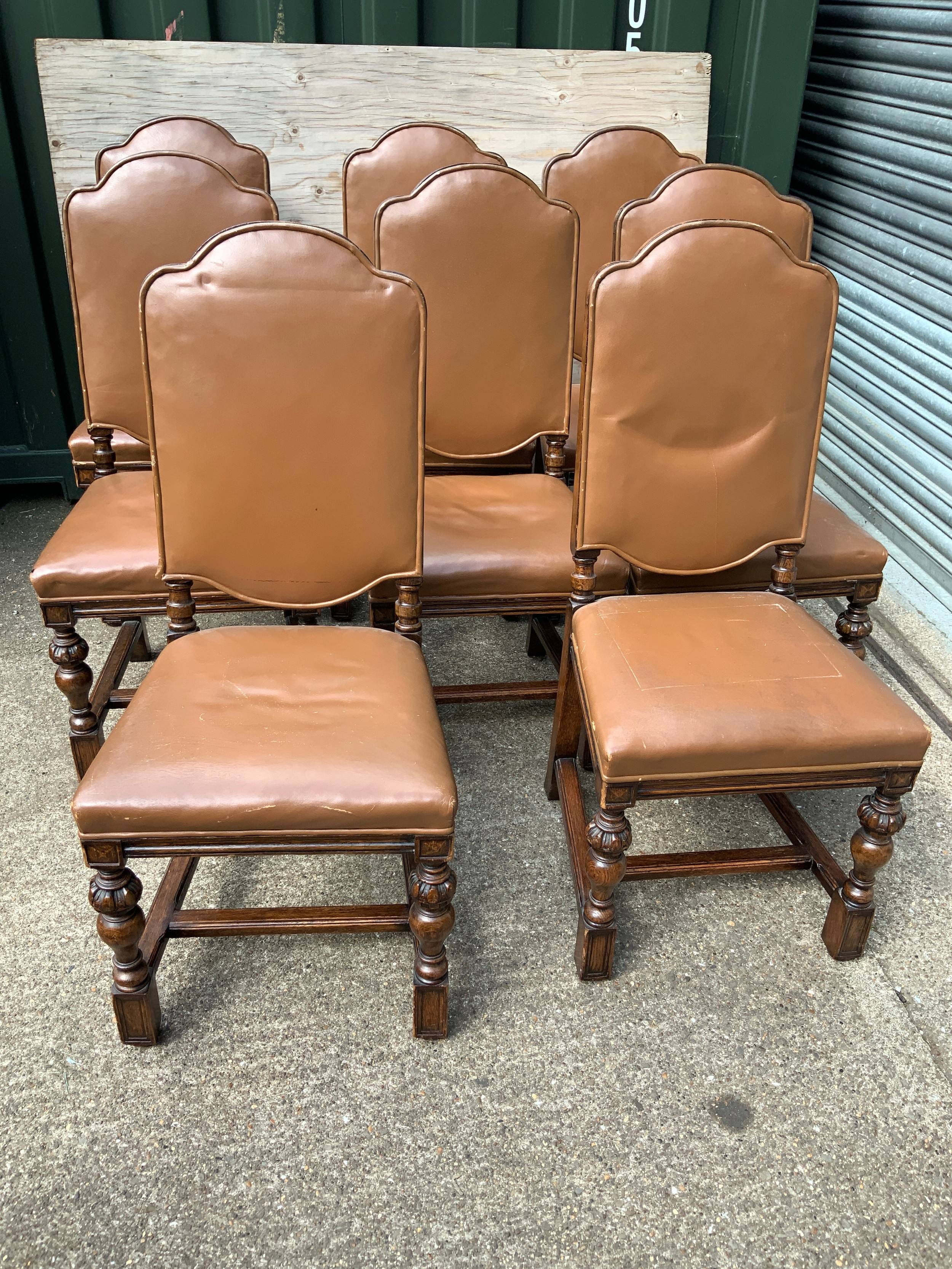 8x Oak Dining Chairs