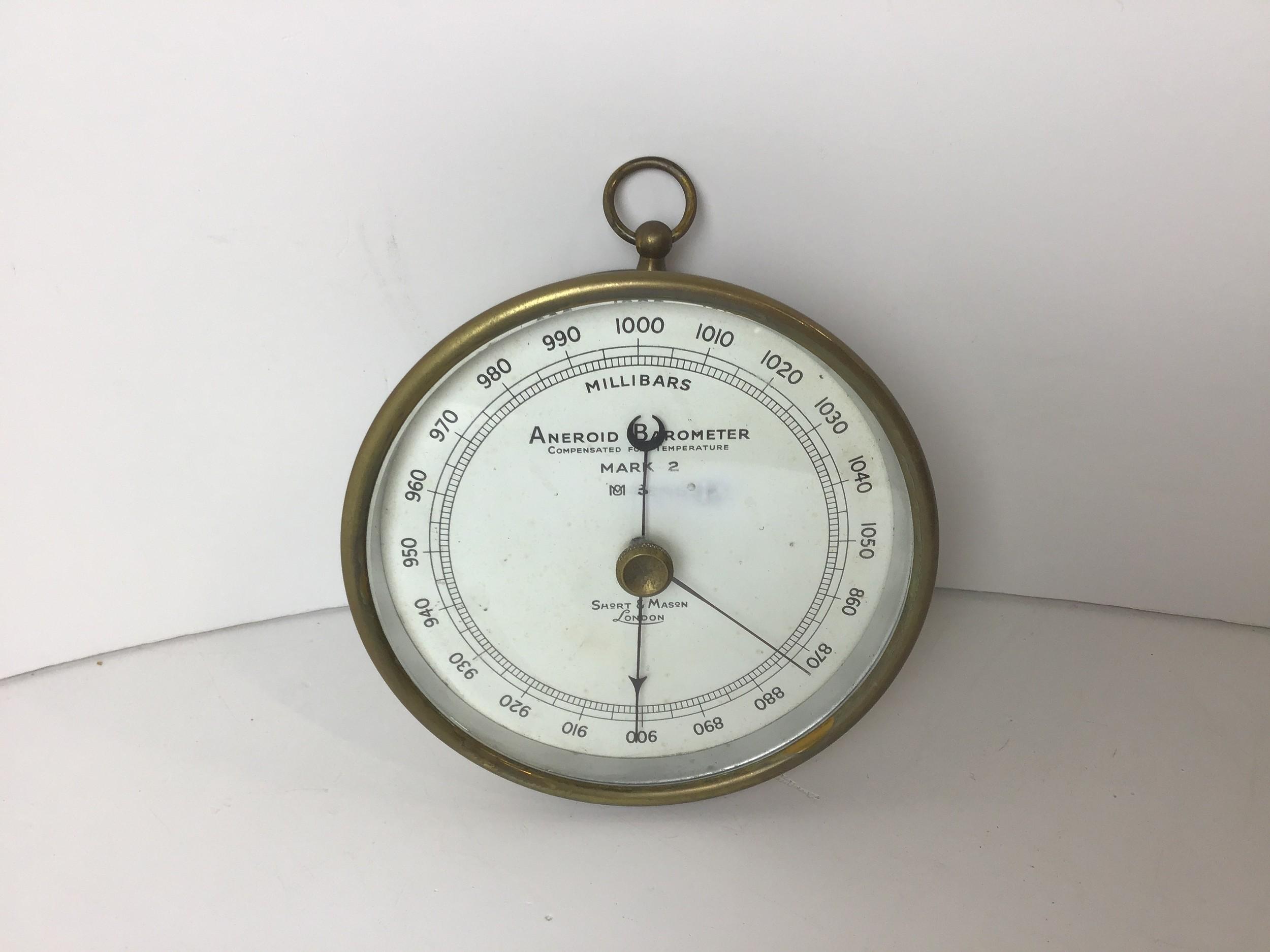 Short and Mason Aneroid Barometer