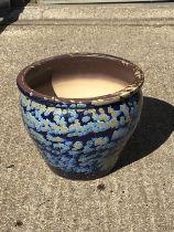 Glazed Planter - 32cm H