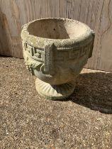 Concrete Urn - 24cm H
