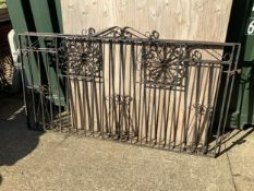 Pair of Metal Driveway Gates to suit 240cm Opening Approximately