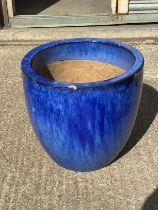 Glazed Planter - H46cm