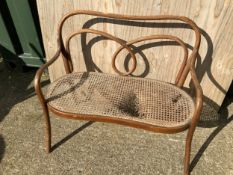 Bentwood Cane Seated Bench