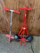 Pogo Stick and Golf Trolley
