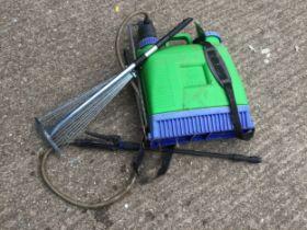 Garden Sprayer and Telescopic Garden Rake