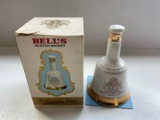 Unopened Commemorative Bells Whisky Decanter 1982