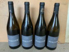 Wine - 4x Bottles of Pouilly Fume