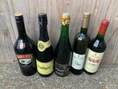 Bottles of Wine and Baileys