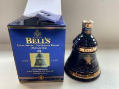 Unopened Commemorative Bells Whisky Decanter 1998