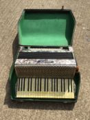 Cased Hohner Piano Accordion Tango IV