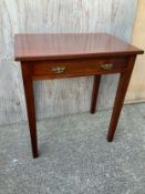 Mahogany Side Table - 69cm W x 46cm D x 75cm H