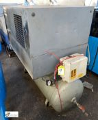 Atlas Copco LE9 receiver mounted Air Compressor, 10bar, 415volts, with insulated cabinet (please
