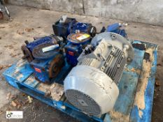 3 various Electric Motors, Geared Motor and 2 Drive Units, to pallet (please note this lot has a
