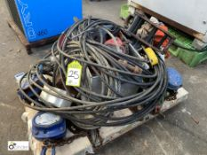 Pallet various manual Chain Hoists, Wire Rope, Grab and electric Motor (please note this lot has a