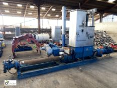 Seepex Pump, pressure stage 24, 20–120RPM, with stainless steel feed, 22kw motor, Flender 2F120-K