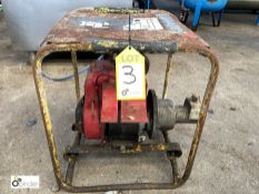 Petrol driven cradle mounted Pump (please note this lot has a lift out fee of £5 plus vat)