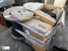 4 part drums various Insulated Cable and 2 boxes Belting (please note this lot has a lift out fee of